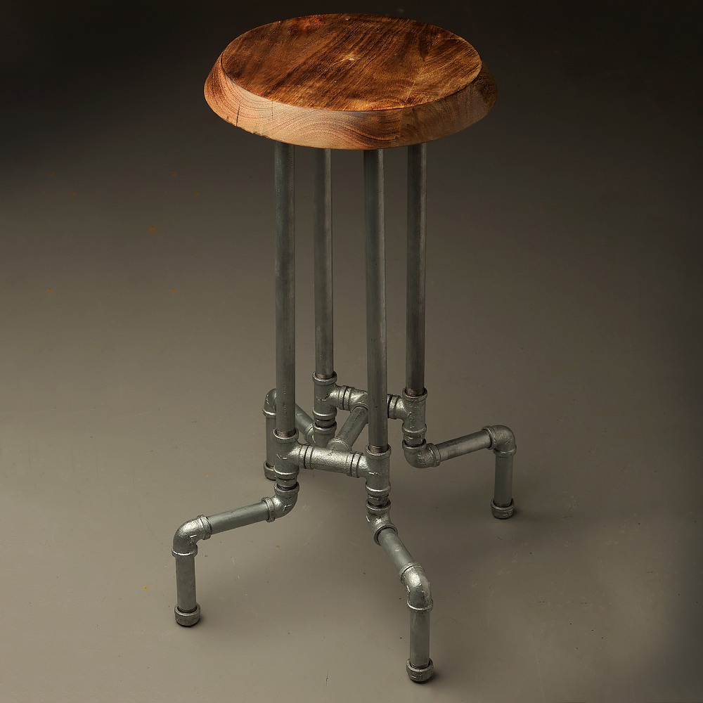 Industrial plumbing pipe bar stool for Best pipes for plumbing