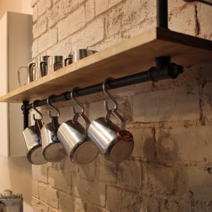 Completed install Pipe shelf