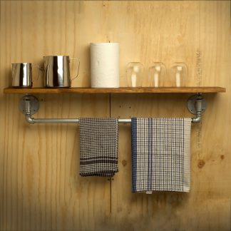 Lower Rail Plumbing Pipe Fitting Single Shelf