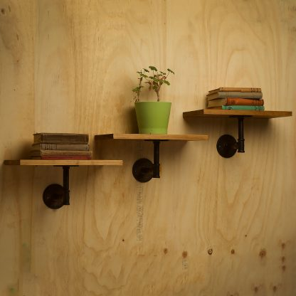 Industrial Plumbing Pipe Single Support Shelf