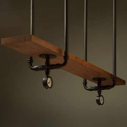 Industrial Plumbing Pipe Overhead Bar Shelf
