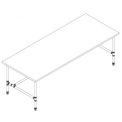 2100-long-plumbing-pipe-desk-base-kit-drawing