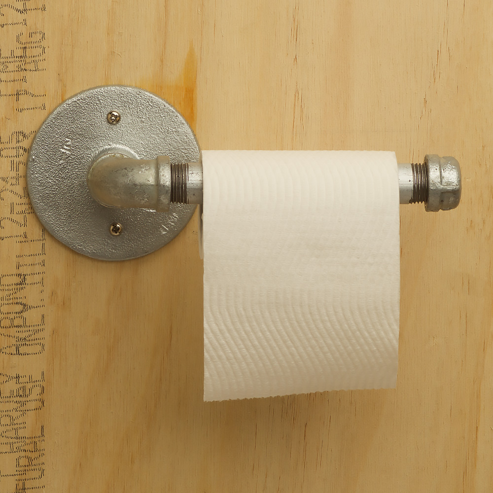 Industrial plumbing pipe toilet roll holder for Plumber bathroom fittings