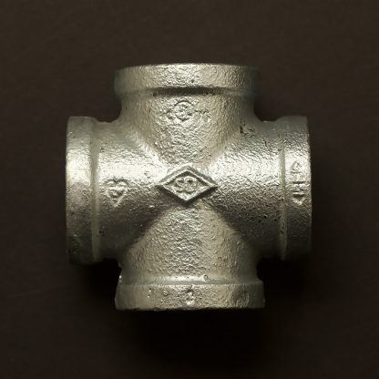 1 inch 25mm Galvanised cross fitting F&F