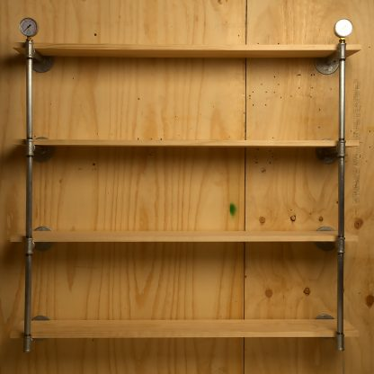 Industrial Plumbing Pipe Level Wall Shelf Front
