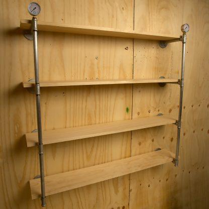 Industrial Plumbing Pipe Level Wall Shelf Angle