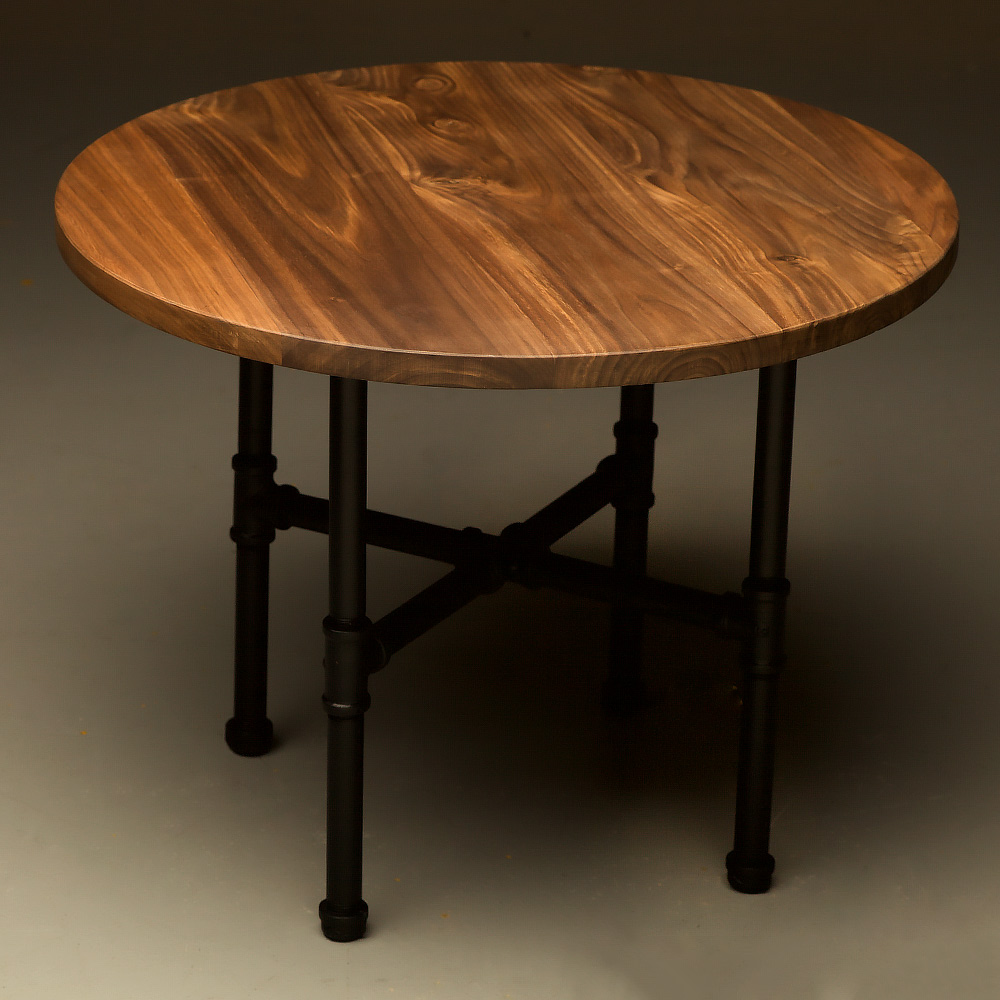 Table Round Industrial Coffee Table Gratifying Ballard: Industrial Plumbing Pipe Small Round Coffee Table