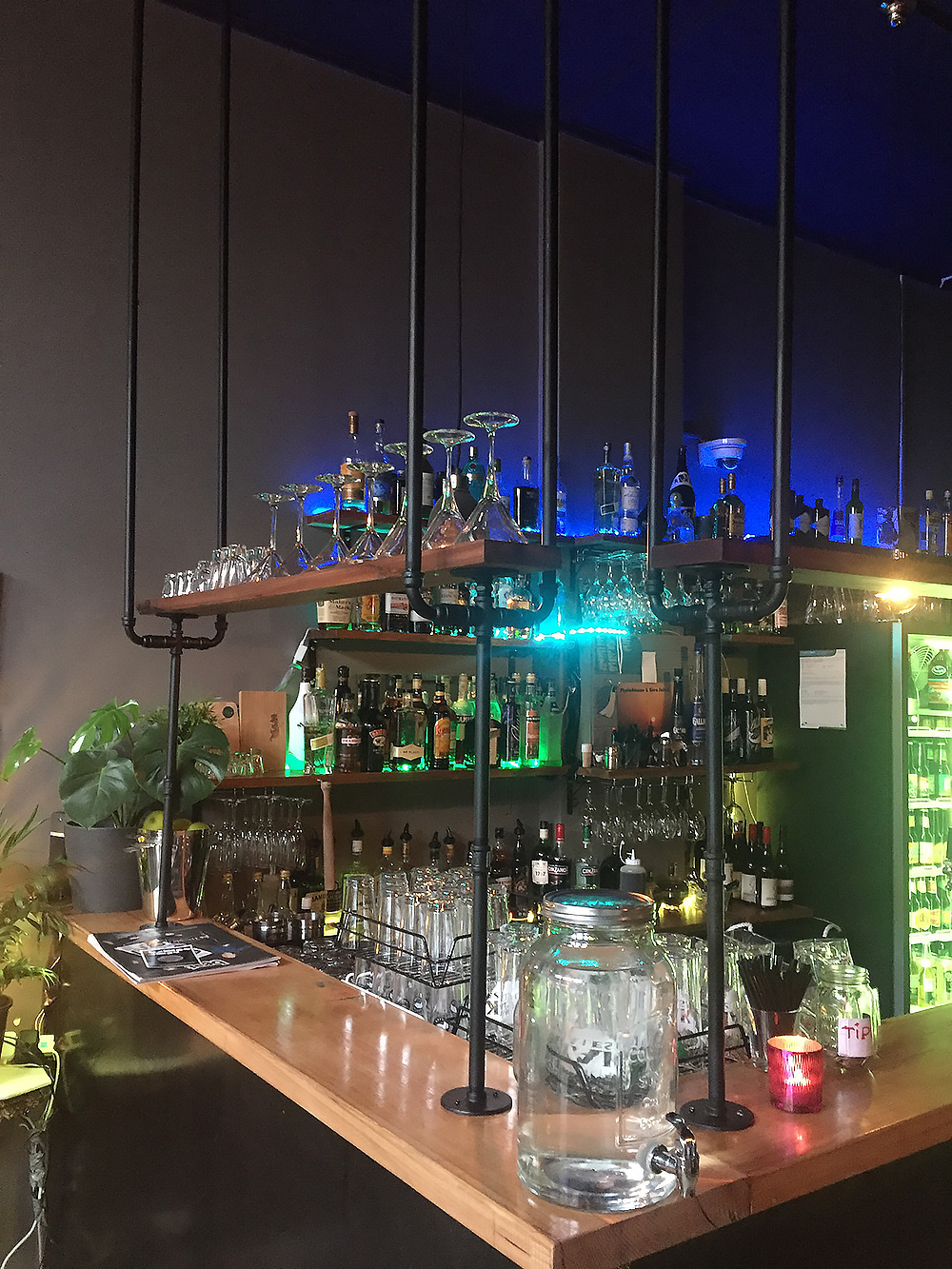 Industrial Overhead Bar Shelf - Sloth Bar Footscray