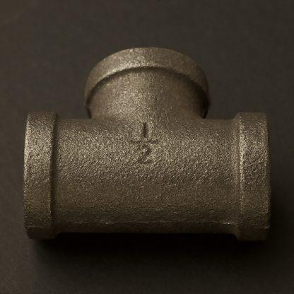 Half Inch Black Steel 15mm Tee Fitting F&F