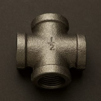 Half Inch Black Steel 15mm Cross Fitting F&F