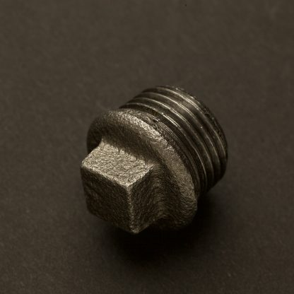 Half inch Black steel 15mm Plug Fitting M