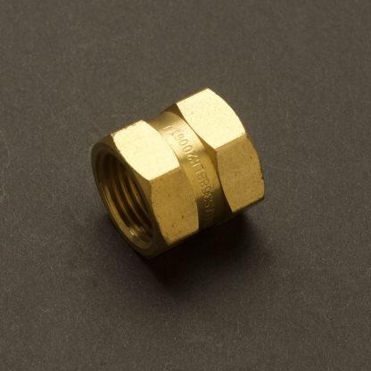 Half inch Solid Brass 15mm Socket Coupler Fitting F&F