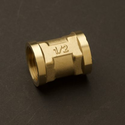 Half inch Solid Brass 15mm Socket Coupler Fitting F&F