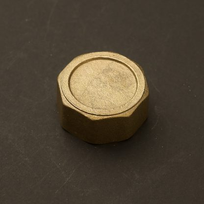One Inch Solid Brass 34mm end cap F