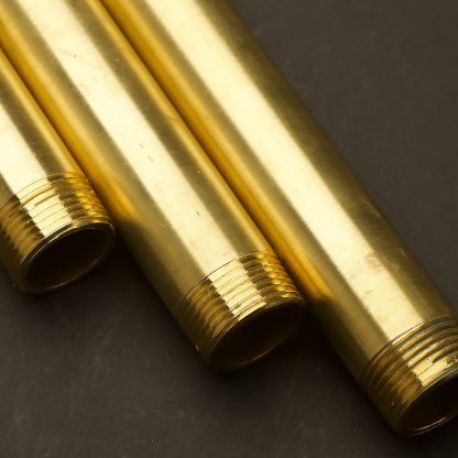 One Inch Solid Brass 34mm threaded plumbing pipe set lengths