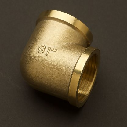 One inch Solid Brass 34mm 90 degree elbow Fitting F&F