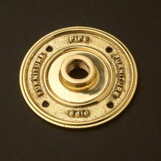 Half inch Solid Brass 15mm Flange plate