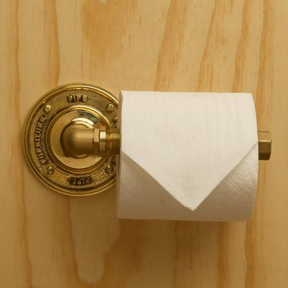Solid bass Industrial plumbing pipe toilet roll holder