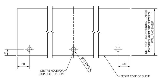 Floor Shelf Kit shelf drilling plan