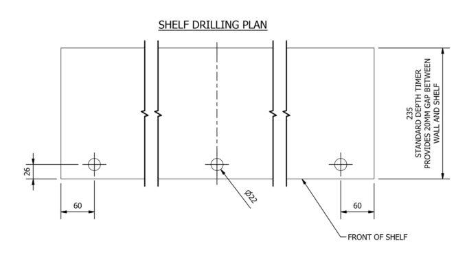 Shelf drilling plan