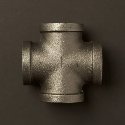 1 Inch 25mm Black steel Cross Fitting F&F
