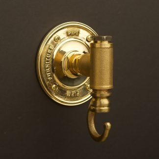 Solid brass tee pipe fitting coat hook