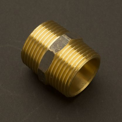 One Inch Solid Brass 34mm hex nipple