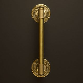 One inch Solid Brass pipe fitting door handle with tee and end plug