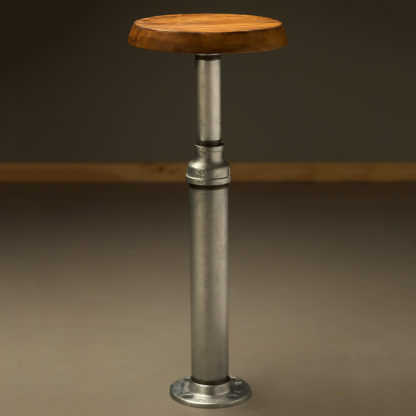 Fixed Industrial Plumbing Pipe Bar Stool
