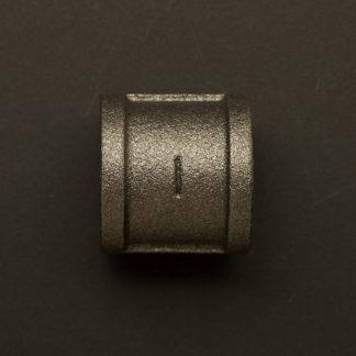 1 inch Black steel 25mm socket coupler fitting F&F