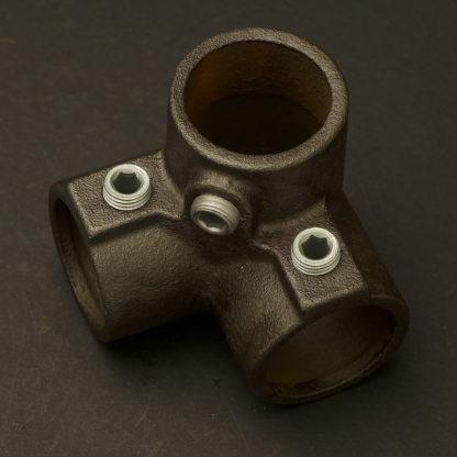 One Inch Black steel 34mm Corner Top Cross Side Outlet Elbow