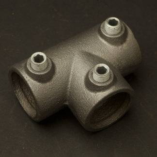 One Inch Black steel 34mm long tee socket fitting