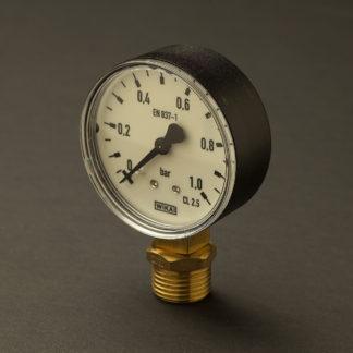 Half inch black case 15mm pressure gauge