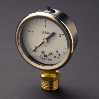 Half inch stainless steel case 15mm pressure gauge