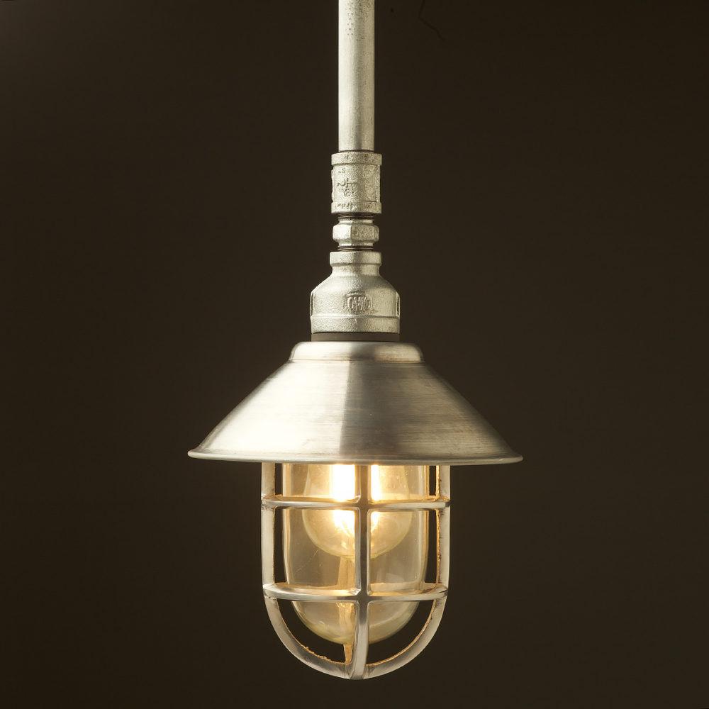 Plumbing Pipe Caged Shade pipe light galvanised shade aluminium