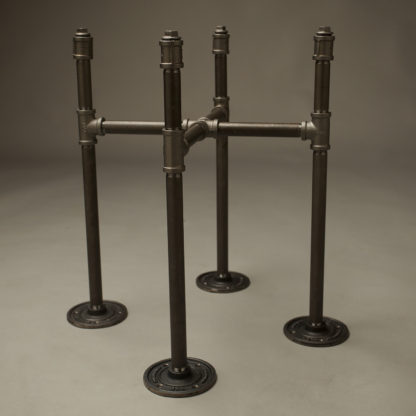 450mm Industrial Plumbing Pipe Plant Stand with flanges
